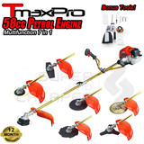 Tmaxpro 7 In 1 Brush Cutter Whipper Snipper Trimmer Line Edger Brushcutter Blade Hedge 58Cc