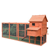 Extra Large 3.1 Meters Wooden Chicken Hen Coop Rabbit Hutch Guinea Pig Ferret Cage
