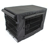 "30"" Medium Dog Kennel Collapsible Metal Crate Pet Puppy Cat Rabbit Cage with cover"