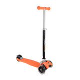 Go Scoot Kids Folding 3 Flashing Wheels Kick Push Scooter Kickboard T-Bar Orange