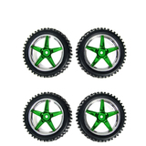 HSP RC Car Parts 06010 06026 Wheel Complete 4 PCS Chrome Green For Buggy