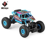 2.4G 1/18 Scale Rc Monster Brushed 4Wd Rc Truck Electric Wl Toys 18428-C 4Wd Rock Climbing Truck